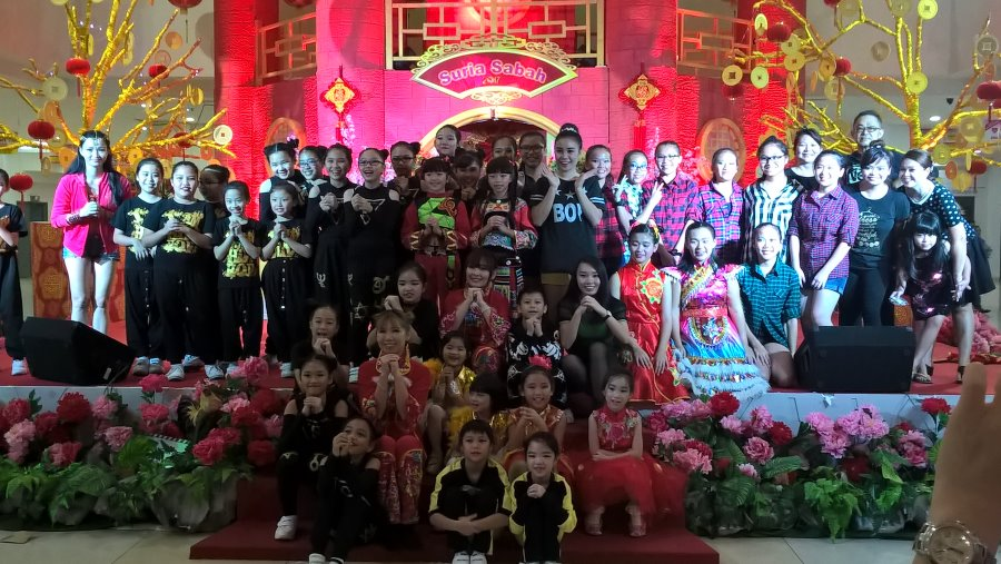 Theresa Dancing Studio Chinese New Year 2017 Suria Sabah